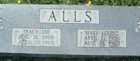 ALLS, TRACY LEE - Montgomery County, Virginia | TRACY LEE ALLS - Virginia Gravestone Photos