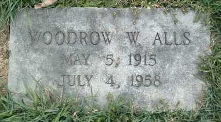 ALLS, WOODROW W. - Montgomery County, Virginia   WOODROW W. ALLS - Virginia Gravestone Photos