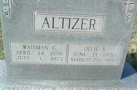 ALTIZER, WAITMAN G. - Montgomery County, Virginia | WAITMAN G. ALTIZER - Virginia Gravestone Photos