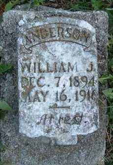 ANDERSON, WILLIAM J. - Montgomery County, Virginia   WILLIAM J. ANDERSON - Virginia Gravestone Photos