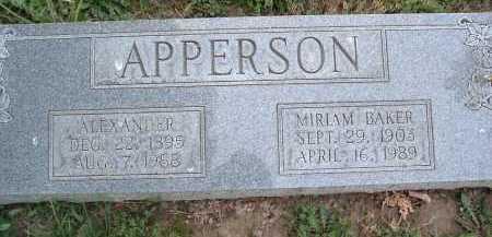 APPERSON, ALEXANDER - Montgomery County, Virginia   ALEXANDER APPERSON - Virginia Gravestone Photos