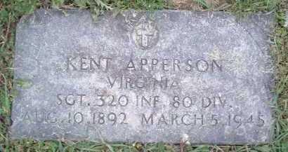 APPERSON, KENT - Montgomery County, Virginia   KENT APPERSON - Virginia Gravestone Photos