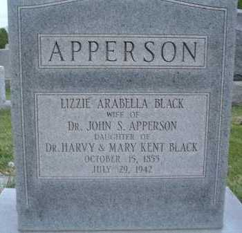 APPERSON, LIZZIE ARABELLA - Montgomery County, Virginia | LIZZIE ARABELLA APPERSON - Virginia Gravestone Photos