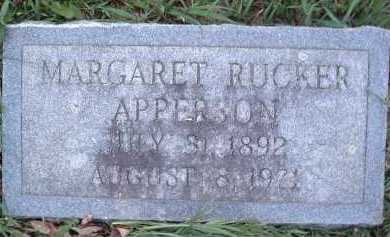 APPERSON, MARGARET - Montgomery County, Virginia | MARGARET APPERSON - Virginia Gravestone Photos