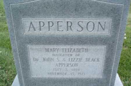 APPERSON, MARY ELIZABETH - Montgomery County, Virginia   MARY ELIZABETH APPERSON - Virginia Gravestone Photos
