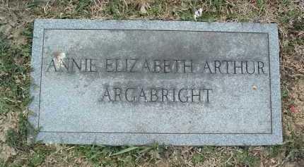 ARTHUR ARGABRIGHT, ANNIE ELIZABETH - Montgomery County, Virginia | ANNIE ELIZABETH ARTHUR ARGABRIGHT - Virginia Gravestone Photos