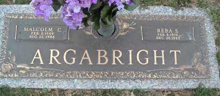 ARGABRIGHT, MALCOLM C. - Montgomery County, Virginia   MALCOLM C. ARGABRIGHT - Virginia Gravestone Photos