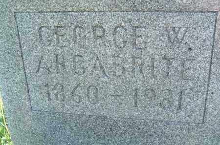 ARGABRITE, GEORGE W. - Montgomery County, Virginia   GEORGE W. ARGABRITE - Virginia Gravestone Photos