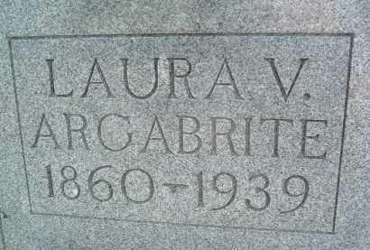 ARGABRITE, LAURA V. - Montgomery County, Virginia | LAURA V. ARGABRITE - Virginia Gravestone Photos