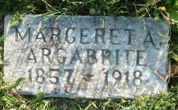 ARGABRITE, MARGERET A. - Montgomery County, Virginia   MARGERET A. ARGABRITE - Virginia Gravestone Photos