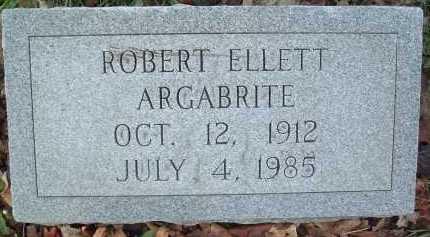 ARGABRITE, ROBERT ELLETT - Montgomery County, Virginia | ROBERT ELLETT ARGABRITE - Virginia Gravestone Photos