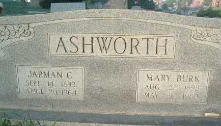 BURK ASHWORTH, MARY - Montgomery County, Virginia | MARY BURK ASHWORTH - Virginia Gravestone Photos