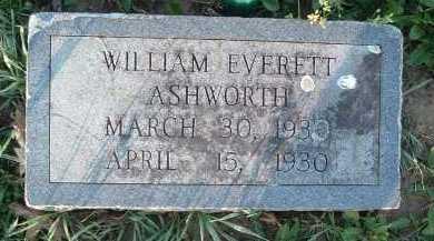 ASHWORTH, WILLIAM EVERETT - Montgomery County, Virginia | WILLIAM EVERETT ASHWORTH - Virginia Gravestone Photos