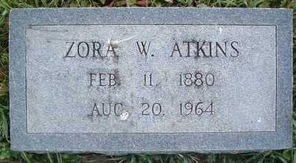 ATKINS, ZORA W. - Montgomery County, Virginia | ZORA W. ATKINS - Virginia Gravestone Photos