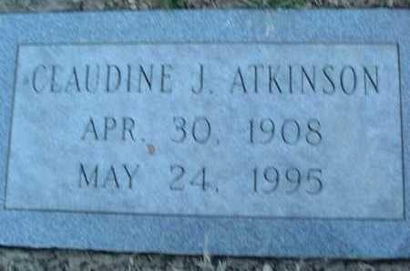 ATKINSON, CLAUDINE J. - Montgomery County, Virginia | CLAUDINE J. ATKINSON - Virginia Gravestone Photos