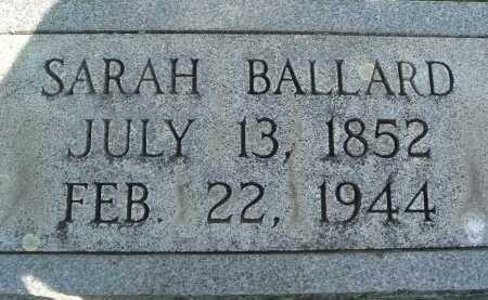 BALLARD, SARAH - Montgomery County, Virginia   SARAH BALLARD - Virginia Gravestone Photos