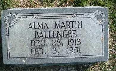 BALLENGEE, ALMA - Montgomery County, Virginia   ALMA BALLENGEE - Virginia Gravestone Photos