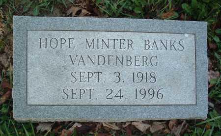 BANKS VANDENBERG, HOPE - Montgomery County, Virginia   HOPE BANKS VANDENBERG - Virginia Gravestone Photos