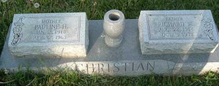 CHRISTIAN, RICHARD W. - Montgomery County, Virginia | RICHARD W. CHRISTIAN - Virginia Gravestone Photos