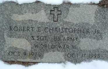 CHRISTOPHER, ROBERT E. JR. - Montgomery County, Virginia   ROBERT E. JR. CHRISTOPHER - Virginia Gravestone Photos