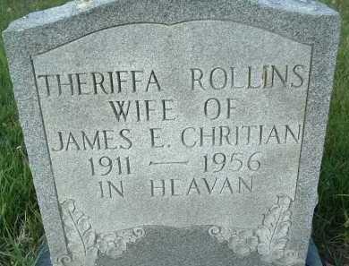 CHRISTIAN, THERIFFA - Montgomery County, Virginia | THERIFFA CHRISTIAN - Virginia Gravestone Photos