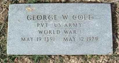 COLE, GEORGE W. - Montgomery County, Virginia | GEORGE W. COLE - Virginia Gravestone Photos