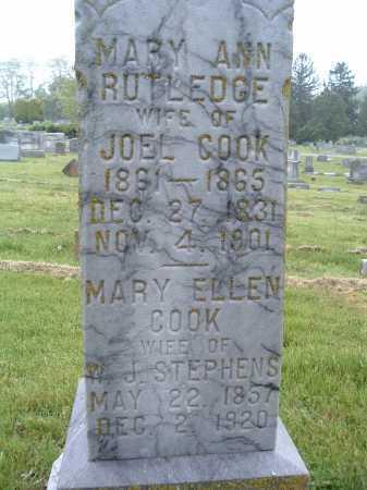 COOK STEPHENS, MARY ELLEN - Montgomery County, Virginia | MARY ELLEN COOK STEPHENS - Virginia Gravestone Photos