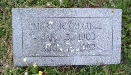 CORRELL, MARY K. - Montgomery County, Virginia | MARY K. CORRELL - Virginia Gravestone Photos