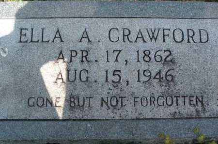 CRAWFORD, ELLA A. - Montgomery County, Virginia   ELLA A. CRAWFORD - Virginia Gravestone Photos