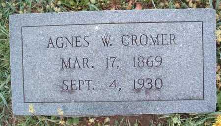 CROMER, AGNES W. - Montgomery County, Virginia | AGNES W. CROMER - Virginia Gravestone Photos