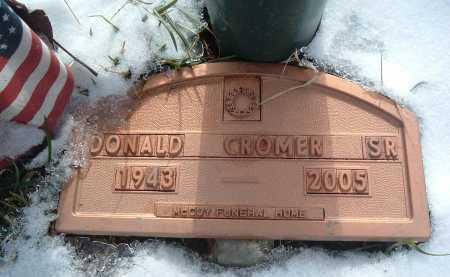 CROMER, DONALD SR. - Montgomery County, Virginia | DONALD SR. CROMER - Virginia Gravestone Photos