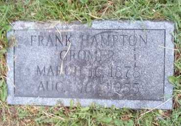 CROMER, FRANK HAMPTON - Montgomery County, Virginia | FRANK HAMPTON CROMER - Virginia Gravestone Photos
