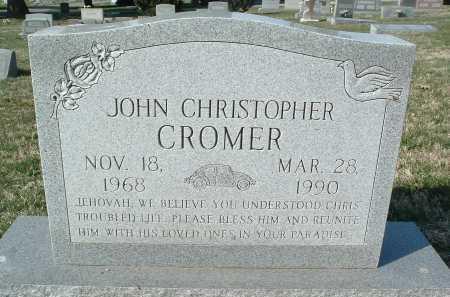 CROMER, JOHN CHRISTOPHER - Montgomery County, Virginia | JOHN CHRISTOPHER CROMER - Virginia Gravestone Photos
