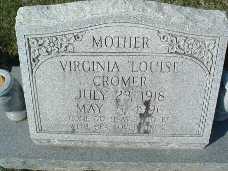 "CROMER, VIRGINIA ""LOUSIE"" - Montgomery County, Virginia | VIRGINIA ""LOUSIE"" CROMER - Virginia Gravestone Photos"