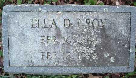 CROY, ELLA D. - Montgomery County, Virginia | ELLA D. CROY - Virginia Gravestone Photos