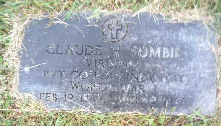 CUMBIE, CLAUDE H. - Montgomery County, Virginia | CLAUDE H. CUMBIE - Virginia Gravestone Photos
