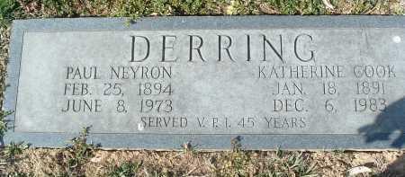COOK DERRING, KATHERINE - Montgomery County, Virginia   KATHERINE COOK DERRING - Virginia Gravestone Photos