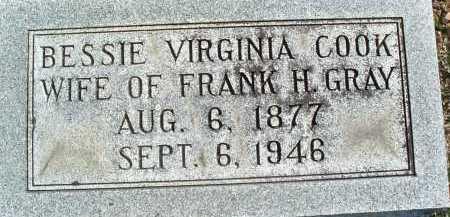 COOK GRAY, BESSIE VIRGINIA - Montgomery County, Virginia   BESSIE VIRGINIA COOK GRAY - Virginia Gravestone Photos