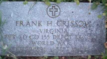 GRISSOM, FRANK H. - Montgomery County, Virginia   FRANK H. GRISSOM - Virginia Gravestone Photos
