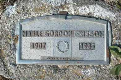 GRISSOM, MABLE GORDON - Montgomery County, Virginia | MABLE GORDON GRISSOM - Virginia Gravestone Photos