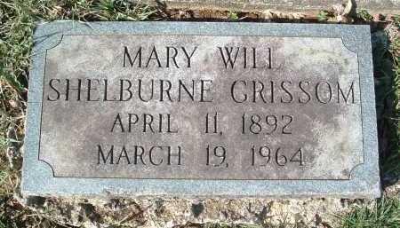 GRISSOM, MARY WILL SHELBURNE - Montgomery County, Virginia   MARY WILL SHELBURNE GRISSOM - Virginia Gravestone Photos