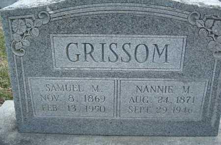 GRISSOM, SAMUEL M. - Montgomery County, Virginia | SAMUEL M. GRISSOM - Virginia Gravestone Photos