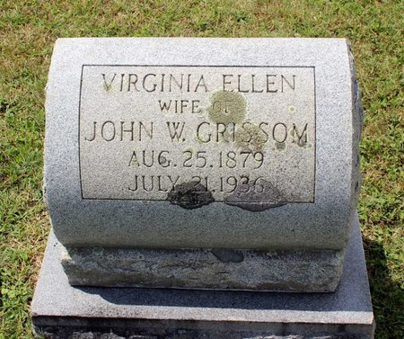 GRISSOM, VIRGINIA ELLEN - Montgomery County, Virginia | VIRGINIA ELLEN GRISSOM - Virginia Gravestone Photos