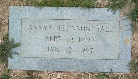 HALL, ANNYE JOHNSON - Montgomery County, Virginia   ANNYE JOHNSON HALL - Virginia Gravestone Photos