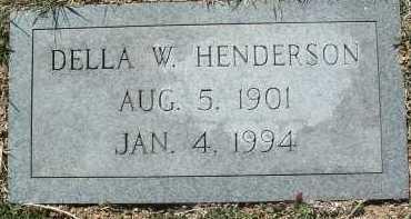HENDERSON, DELLA W. - Montgomery County, Virginia | DELLA W. HENDERSON - Virginia Gravestone Photos
