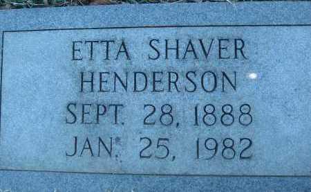 HENDERSON, ETTA - Montgomery County, Virginia | ETTA HENDERSON - Virginia Gravestone Photos
