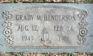 HENDERSON, GRADY M. - Montgomery County, Virginia | GRADY M. HENDERSON - Virginia Gravestone Photos