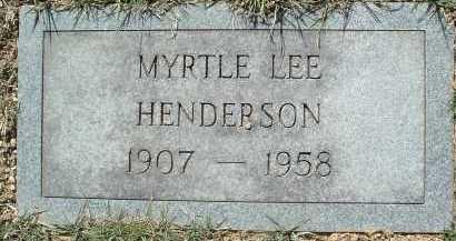 HENDERSON, MYRTLE LEE - Montgomery County, Virginia   MYRTLE LEE HENDERSON - Virginia Gravestone Photos