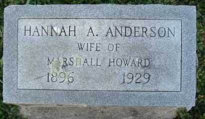 HOWARD, HANNAH A. - Montgomery County, Virginia   HANNAH A. HOWARD - Virginia Gravestone Photos