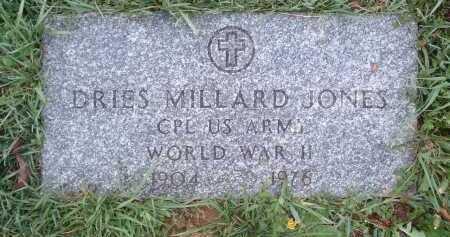 JONES, DRIES MILLARD - Montgomery County, Virginia | DRIES MILLARD JONES - Virginia Gravestone Photos